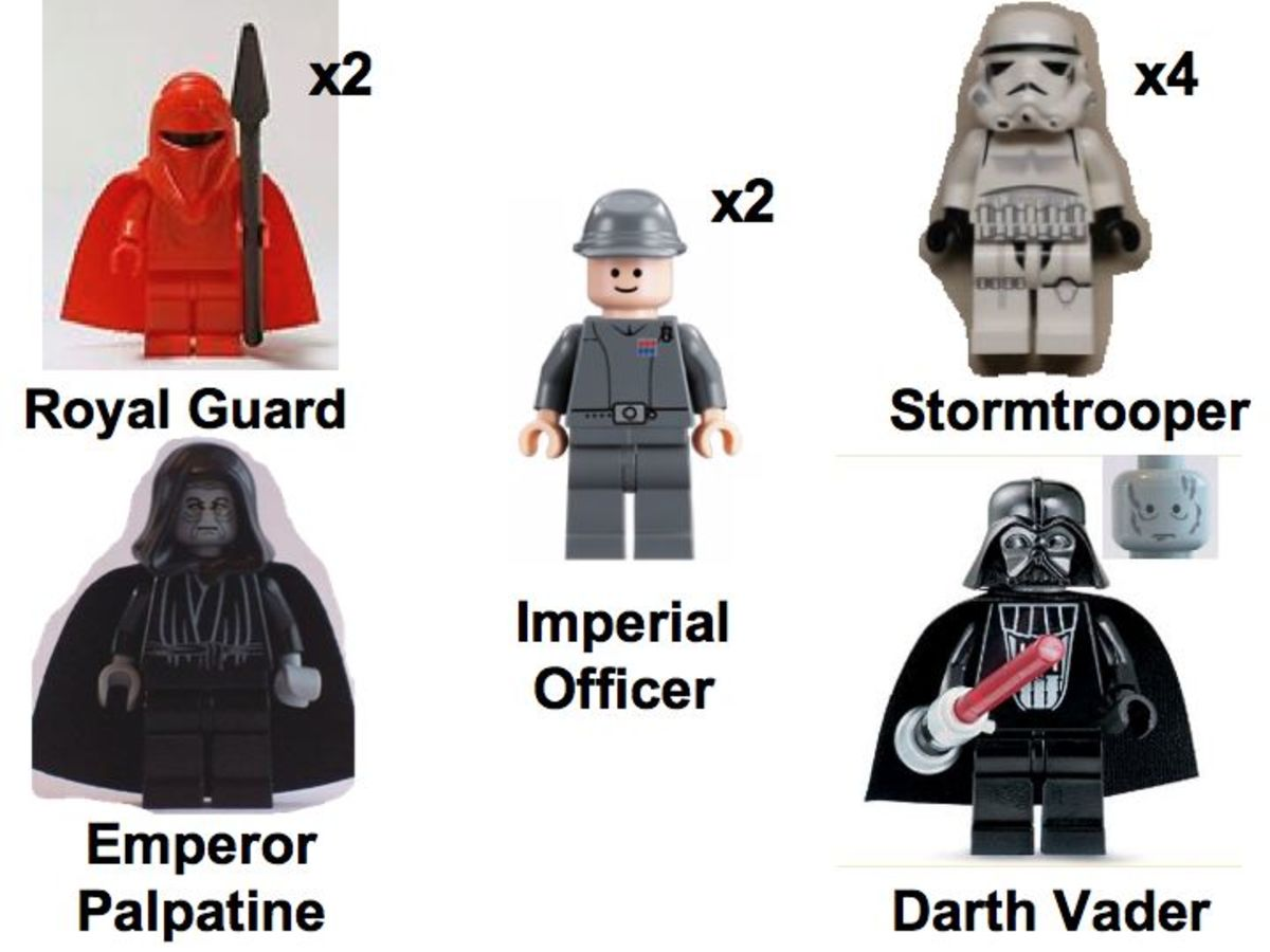 LEGO Star Wars Imperial Inspection 7264 Minifigures