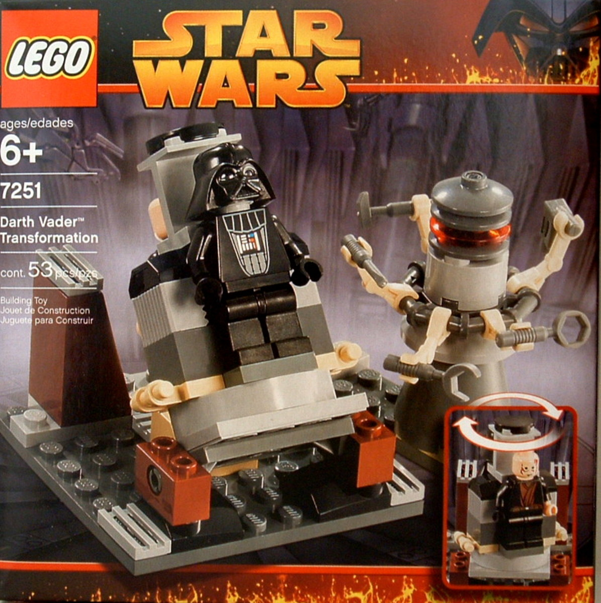 LEGO Star Wars Darth Vader Transformation 7251 Box