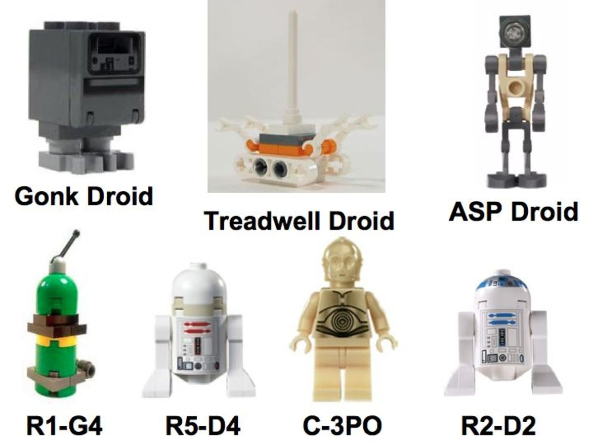 LEGO Star Wars Sandcrawler 10144 Droid Minifigures