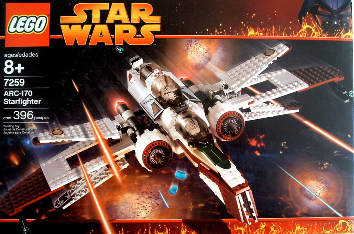 LEGO Star Wars Arc-170 Fighter 7259 Box