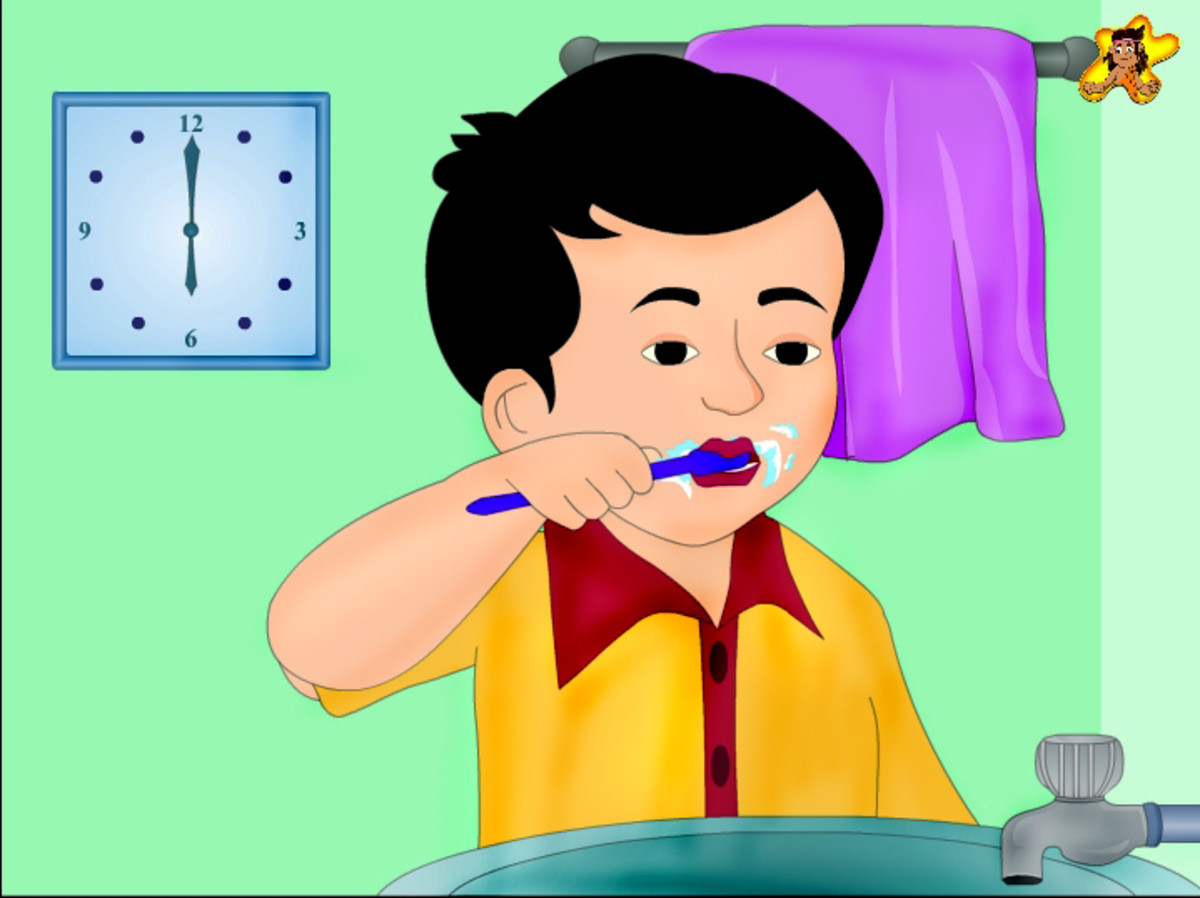 Action words for kids - brush