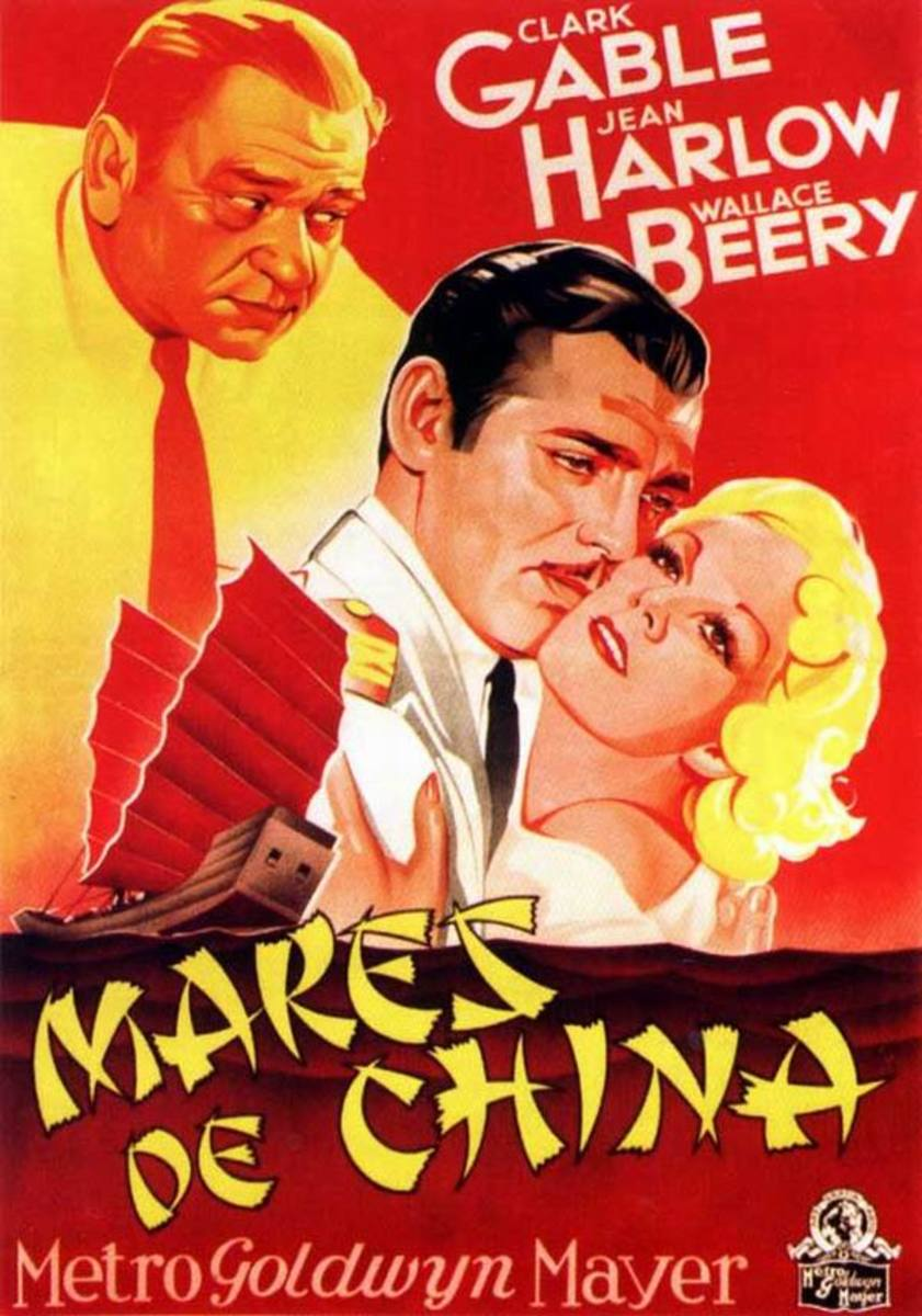 China Seas (1935) Spanish poster