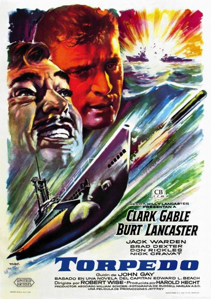 Run Silent Run Deep (1958) Spanish poster