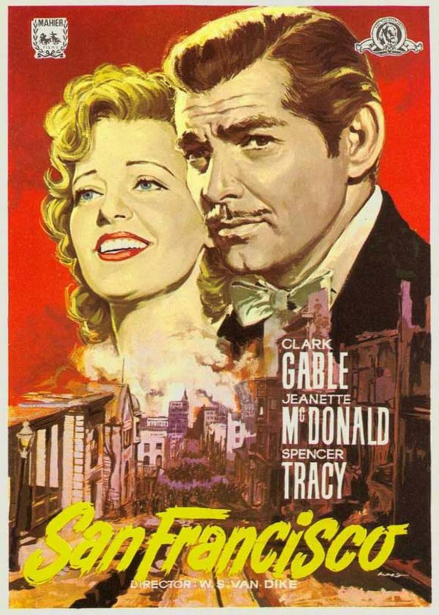 San Francisco (1936) Spanish poster