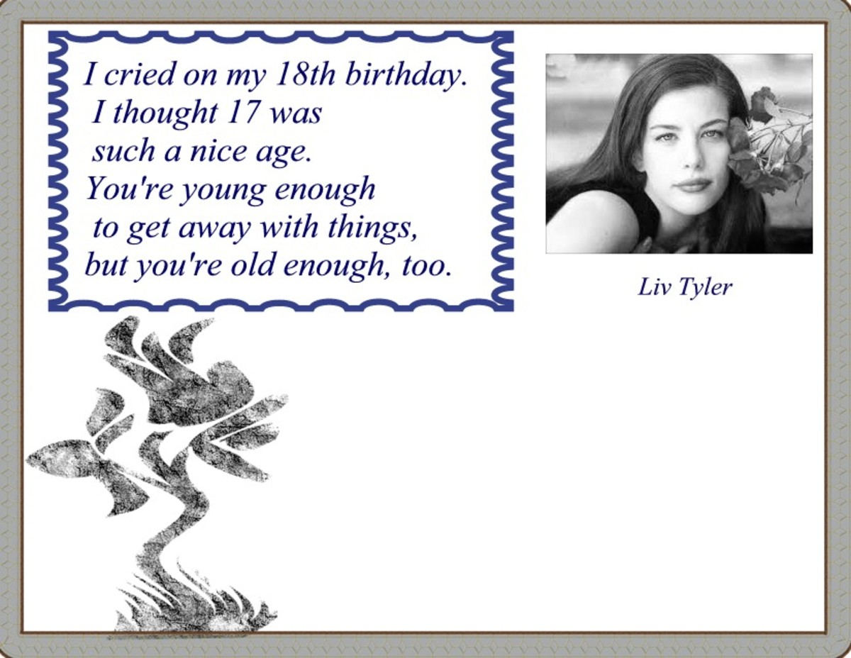 A famous 18th birthday quote