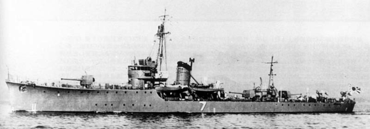 Minesweeper W-12 responsible for the systematic murder of the survivors from SS Suez Maru.