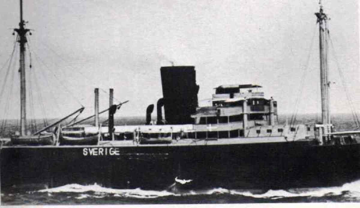 German commerce raider SS Orion (Schiff 36) displaying neutral Swedish markings