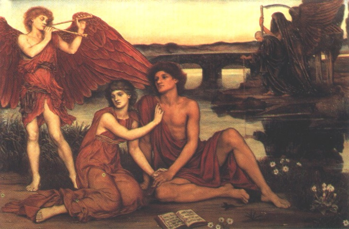 Love's Passing by Evelyn de Morgan (1855-1919).