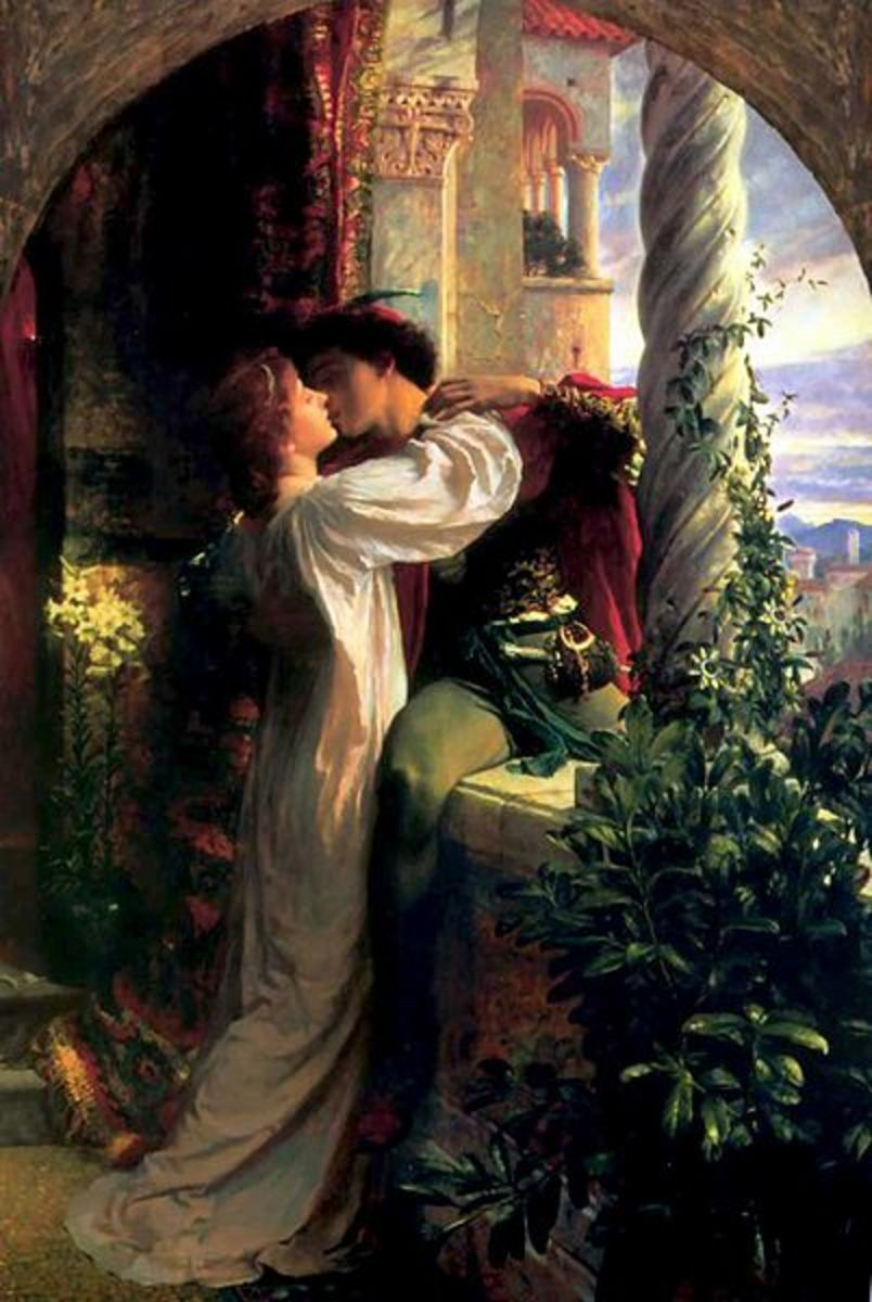 Romeo and Juliet by Frank Dicksee (1853-1928).