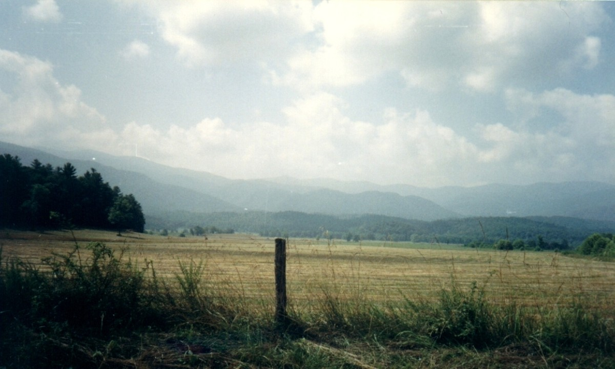 View of mountains from Cades Cove
