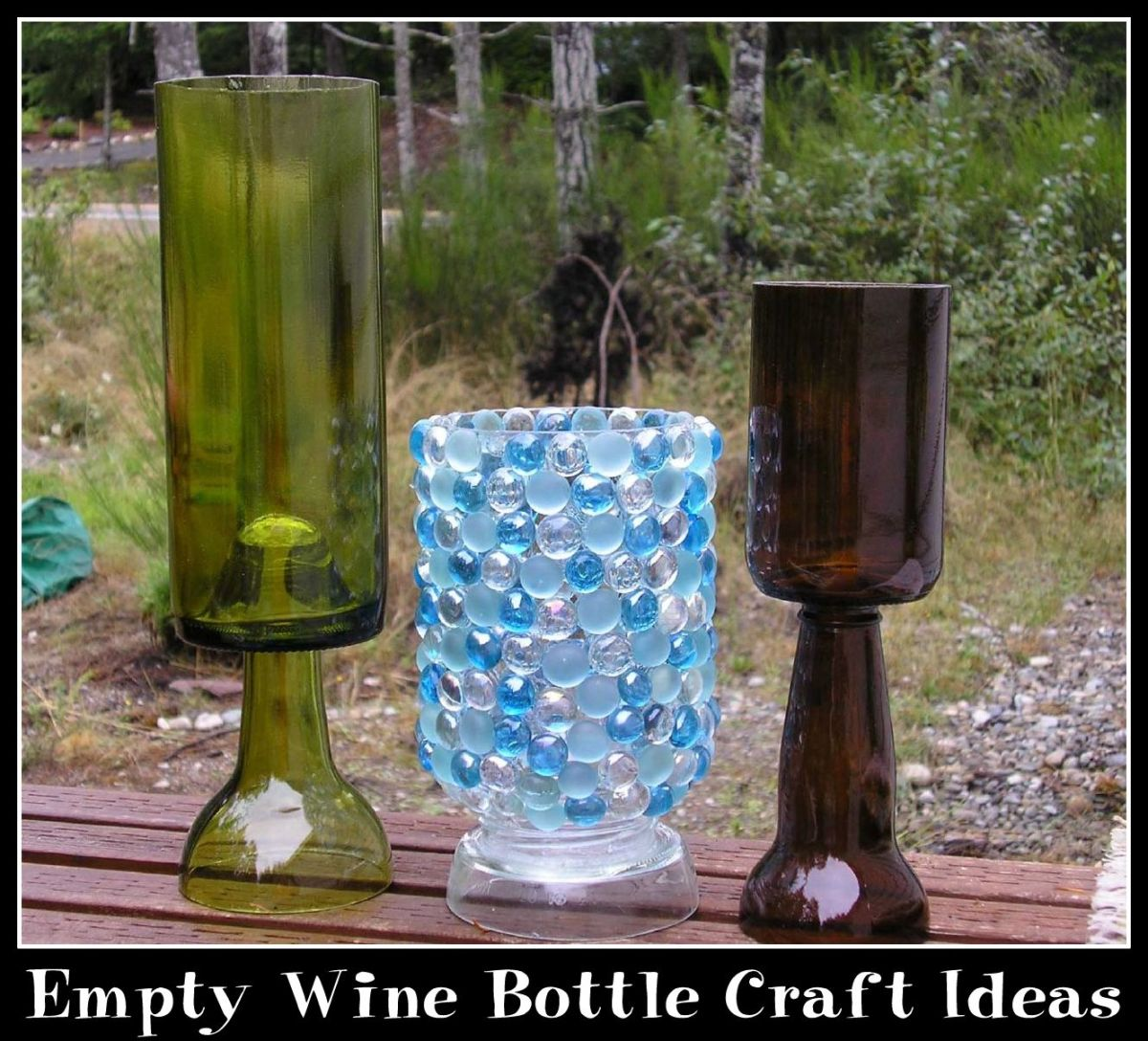 Empty wine bottle craft ideas hubpages for Things made from wine bottles
