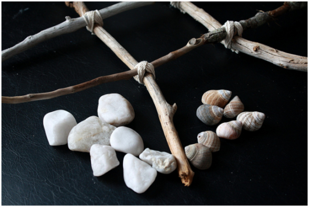 A fun alternative to noughts and crosses - and a great use for pebbles, shells and driftwood!