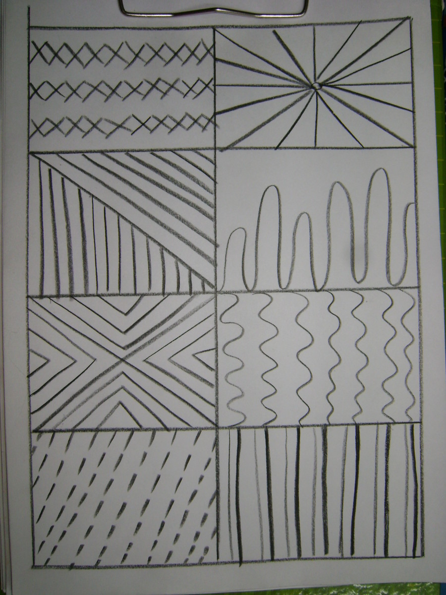Drawing Using Different Lines : How to teach drawing basics kids lines and shapes
