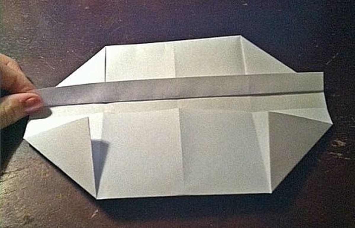 Fold the half-inch strip up and over the top corners.