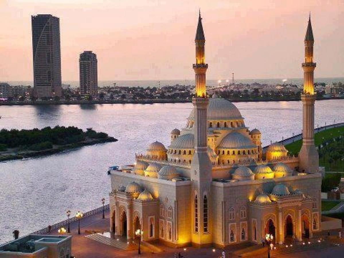 Al Noor Mosque-A famous Mosque of Sharjah, U.A.E.