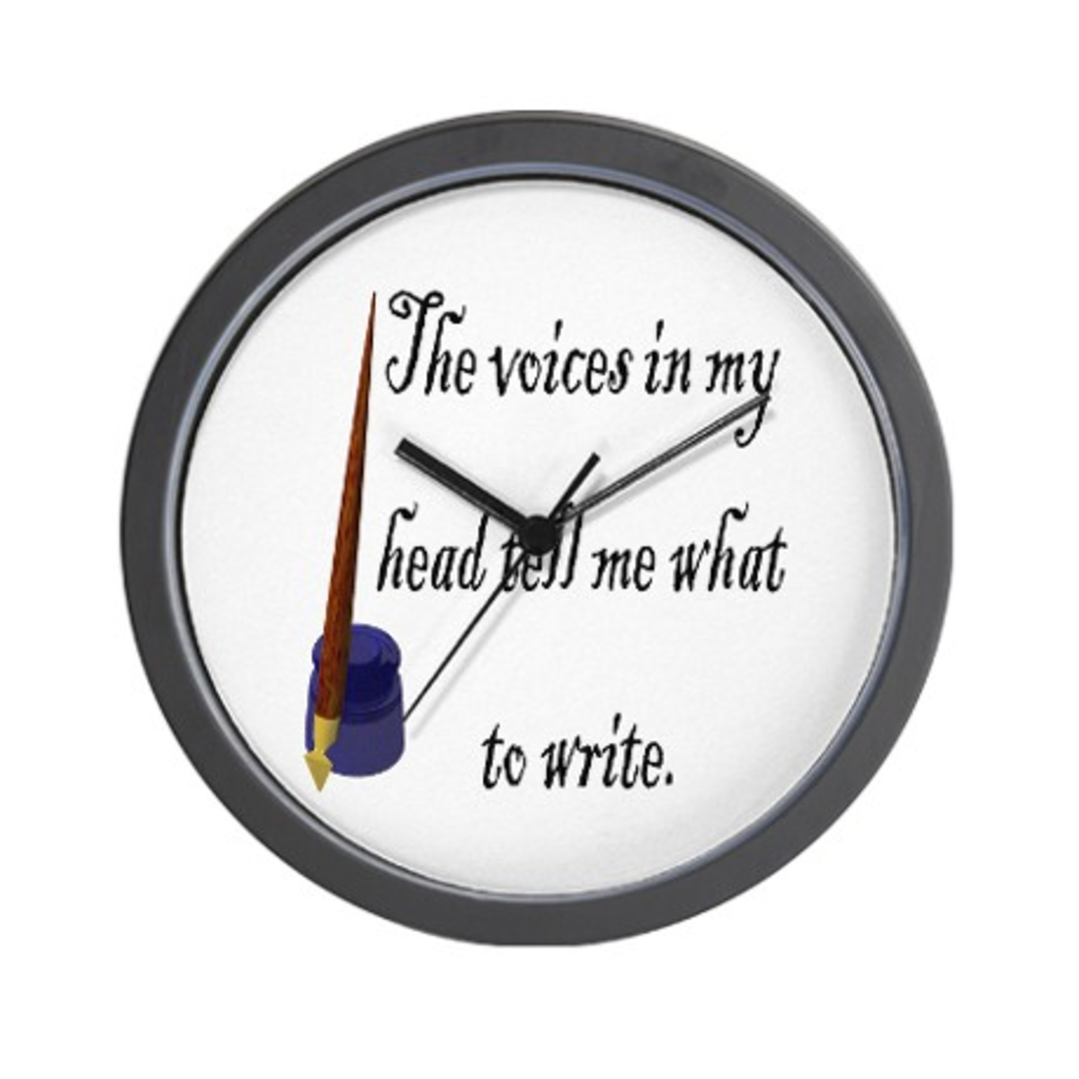 What a great clock for a writer.