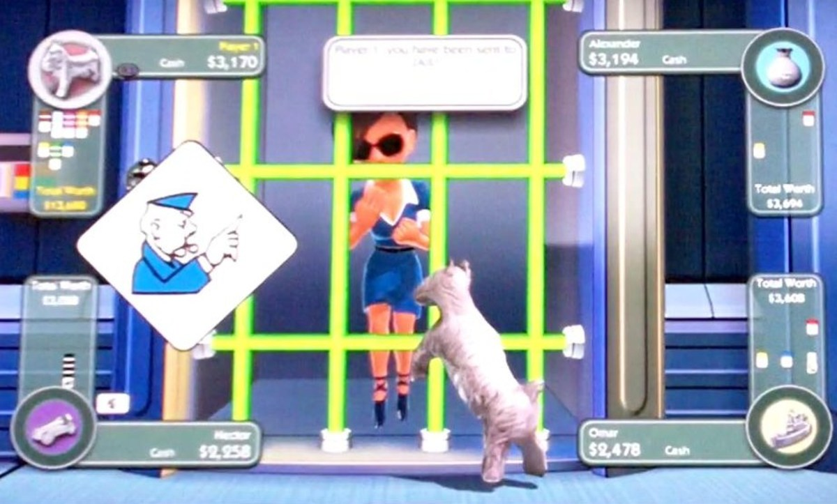 The Dog's character is in jail.