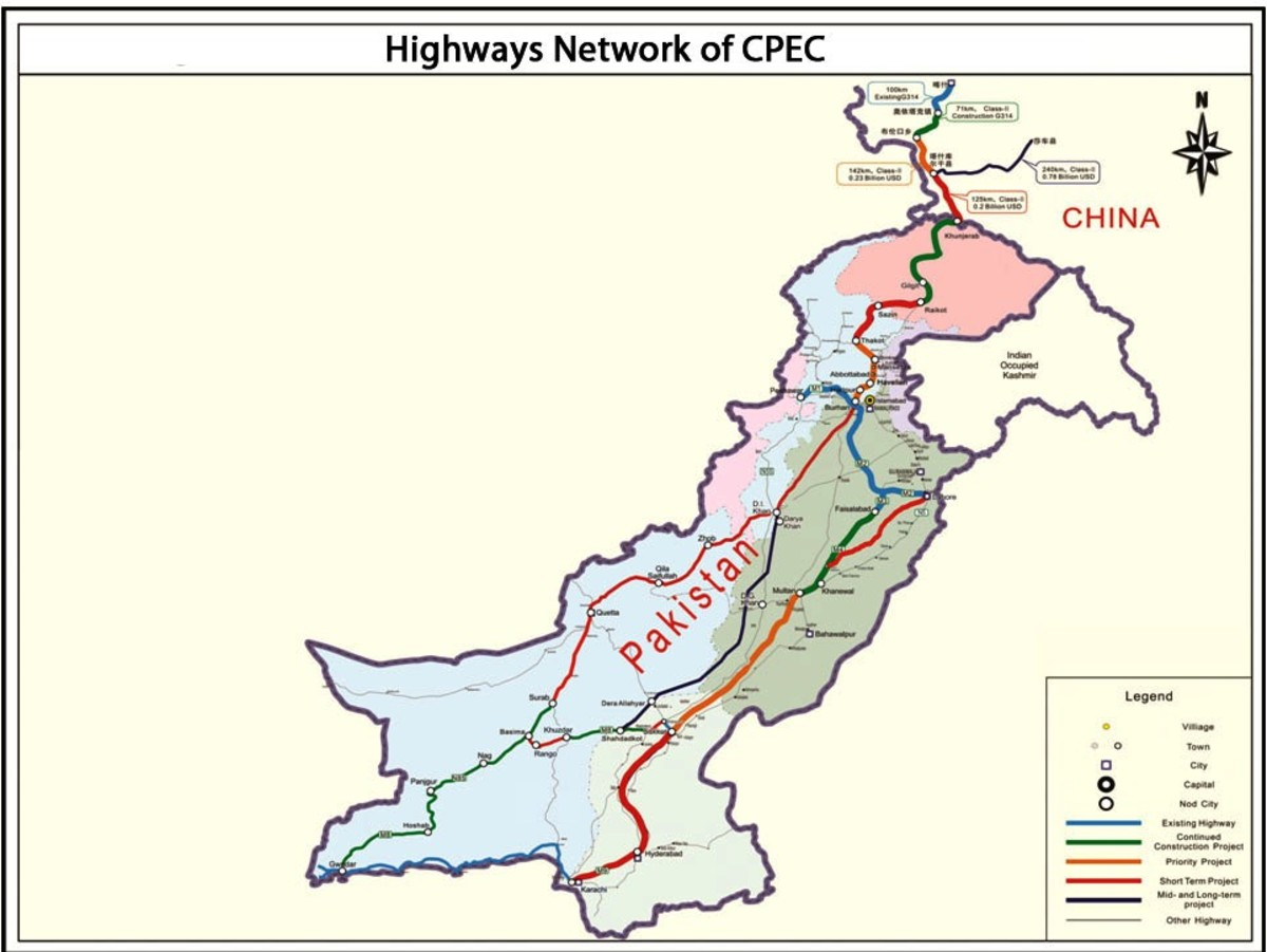 Proposed CPEC route to link Pakistan and China.