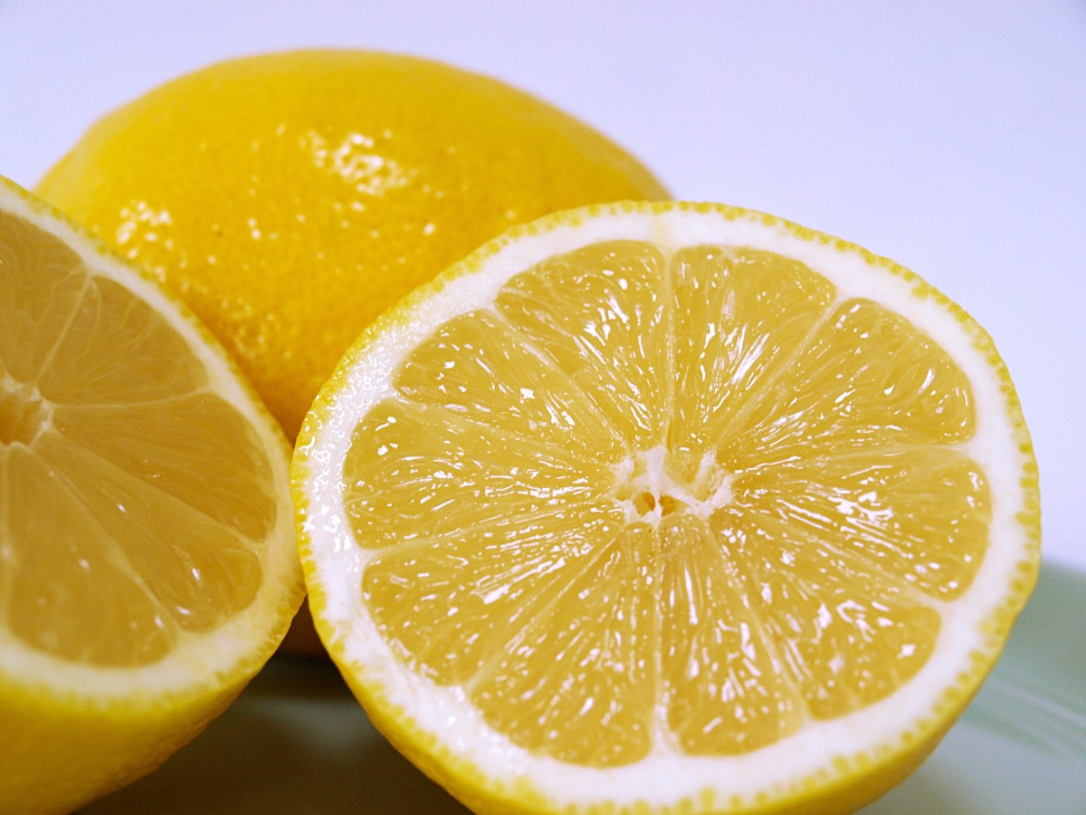 Lemons are a great natural skin lightener