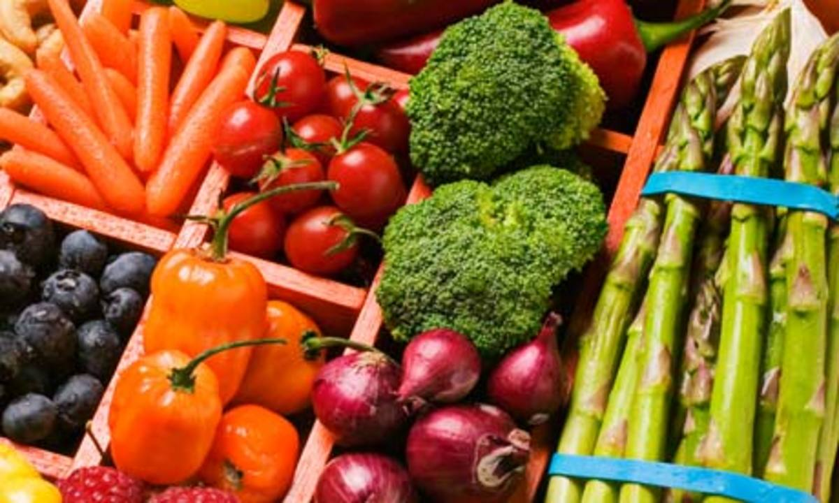 Vegetables and fruits, how many different kinds and types are there?