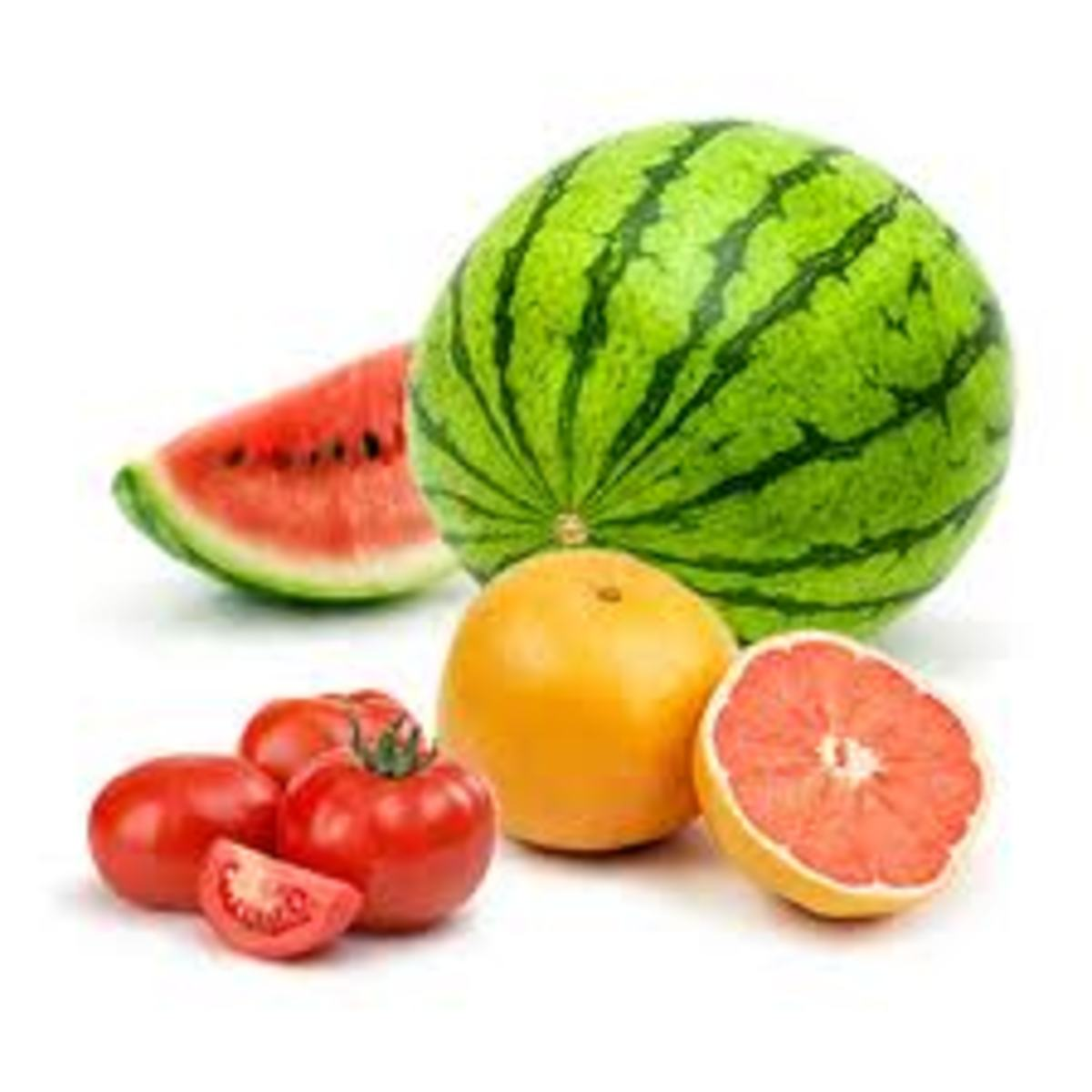 Lycopene is found in watermelons, tomatoes and  shrimps