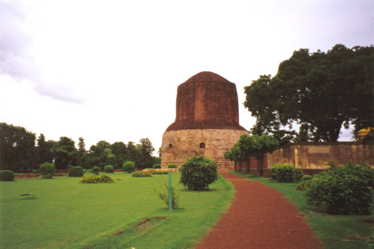 Sarnath, the deer park where Gautama Buddha first taught the Dharma, and where the Buddhist Sangha came into existence through the enlightenment of Kondanna.