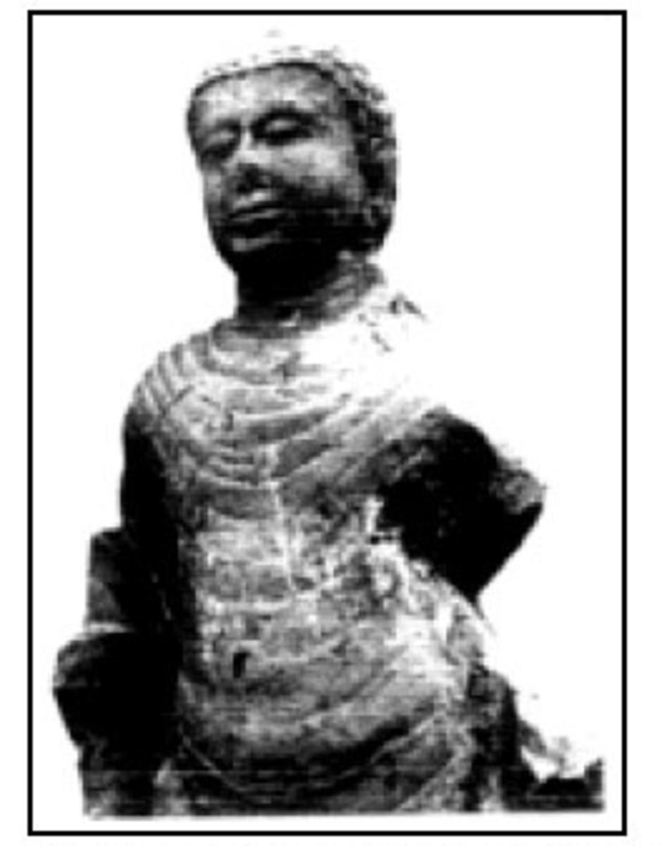 A Buddha statues styled Amarawati (South Indian style) in Siguntang Hill, Palembang, South Sumatra