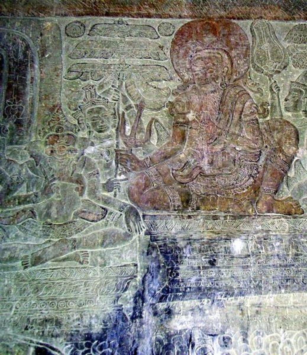 Vyasa narrating Ganesha, the Mahabharata