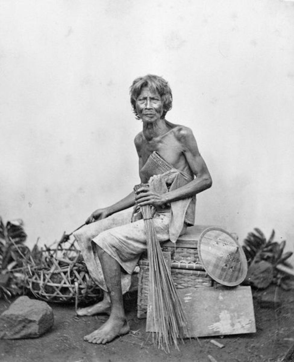 A sudra, a man from the lower caste of Bali, Indonesia.