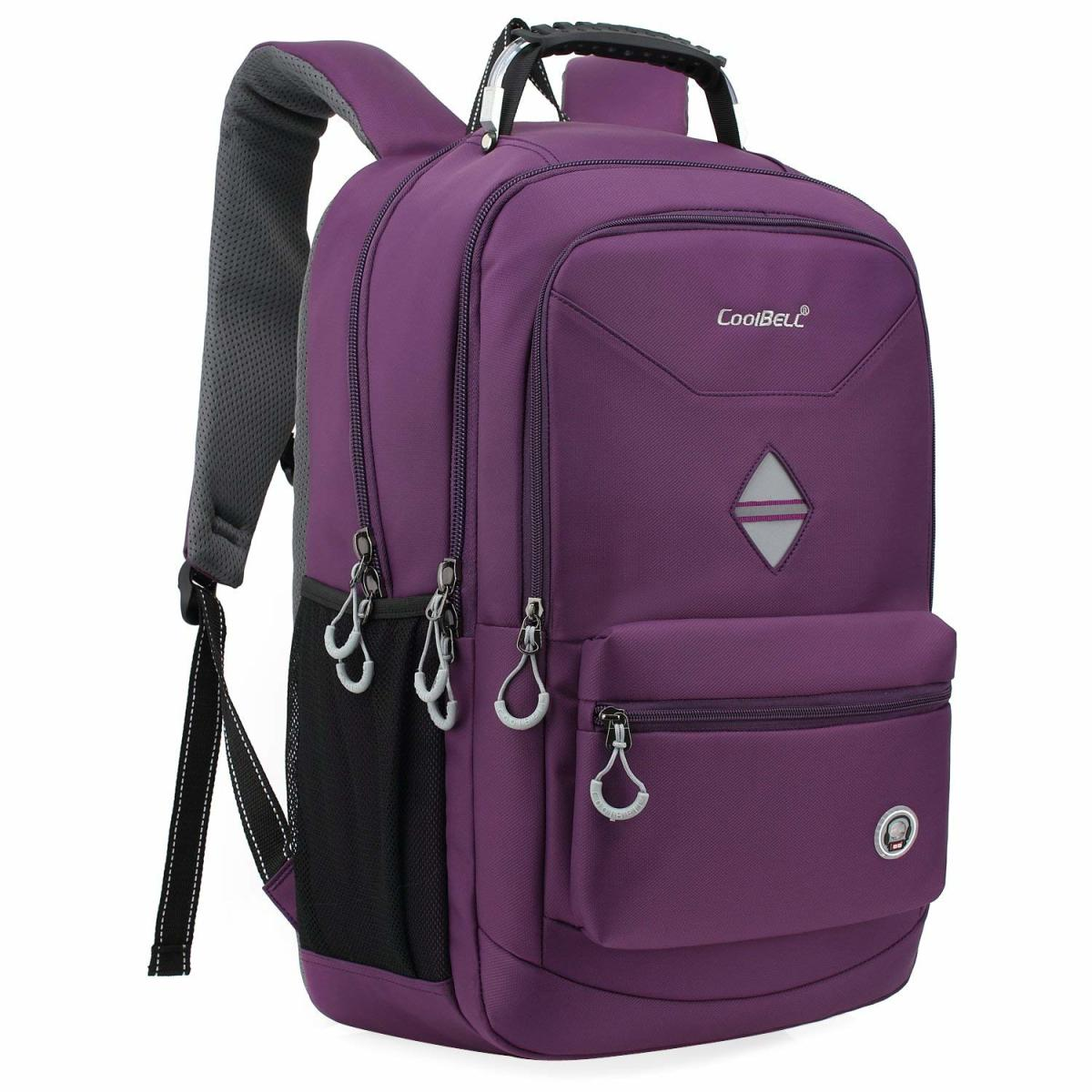 CoolBELL 18.4 Inch Backpack Laptop Bag Travel Rucksack Water-resistant Hiking Knapsack Protective Day Pack (Unisex) Fits 15-18.4 Inch Laptop Dell/HP/Lenovo/Macbook/Acer/Women