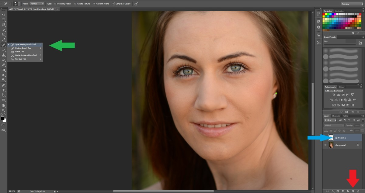 How to Photoshop Tutorial - Professional skin complexion retouch
