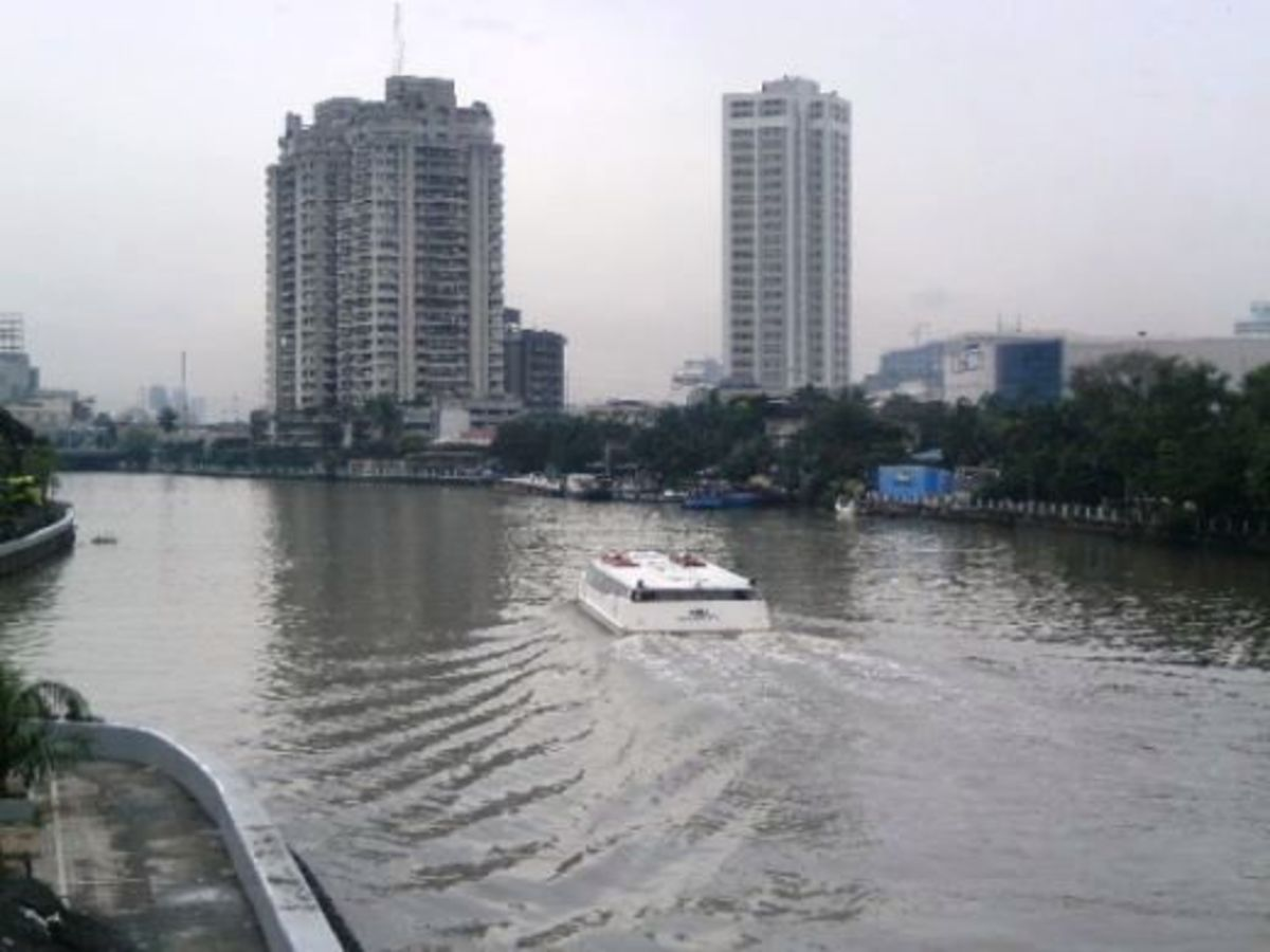 The Pasig River.