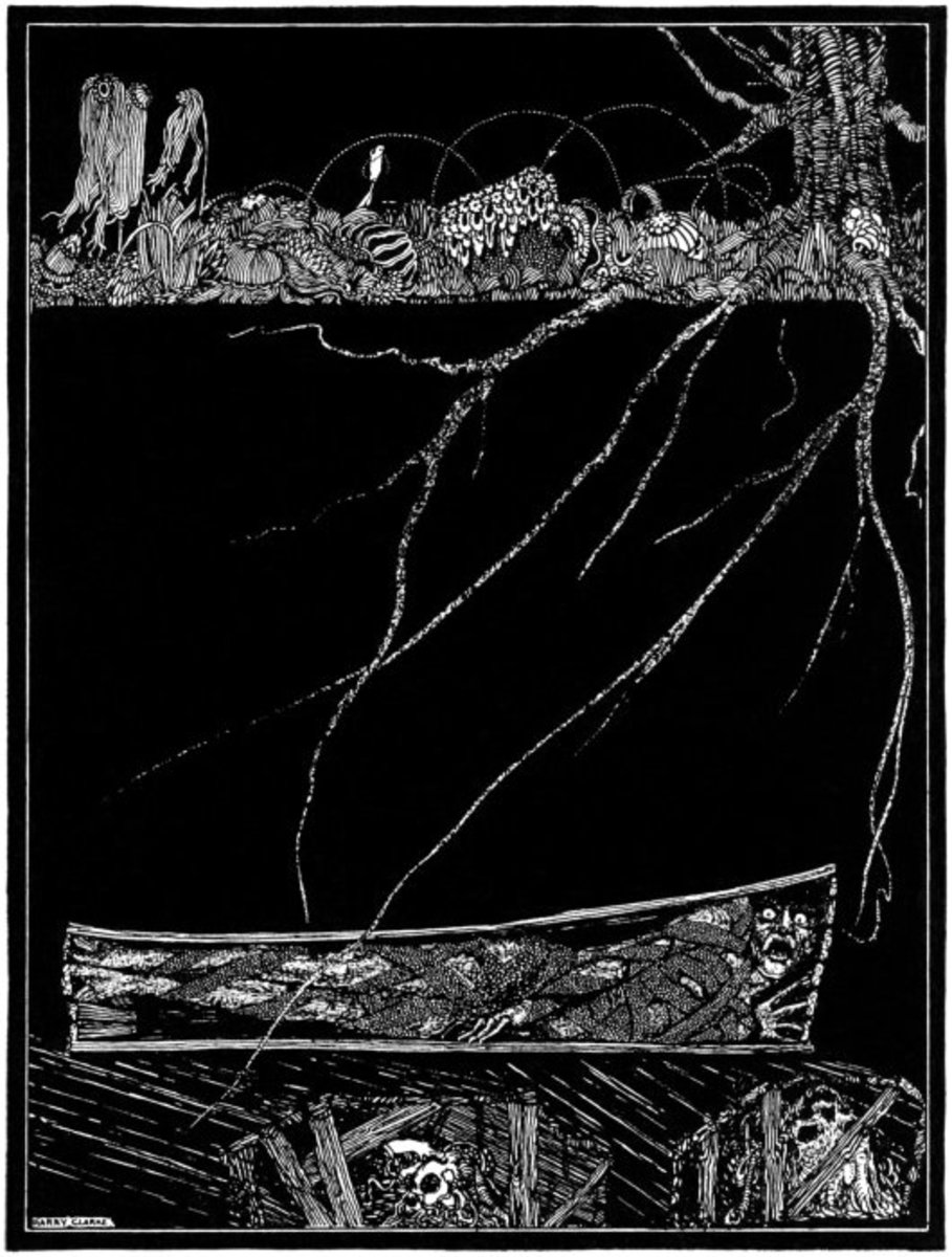 Illustration by Harry Clarke for The Premature Burial