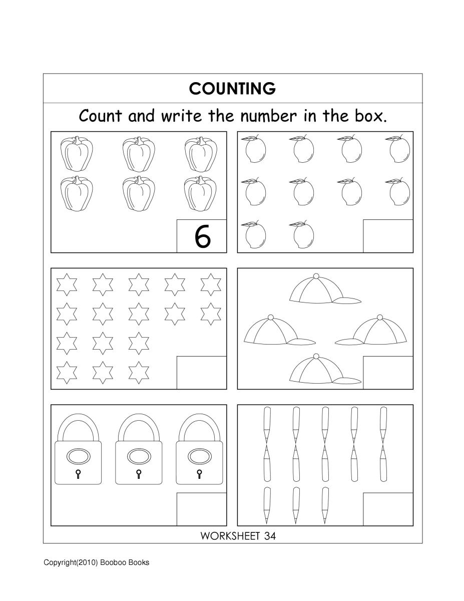 Kindergarten number worksheets | hubpages