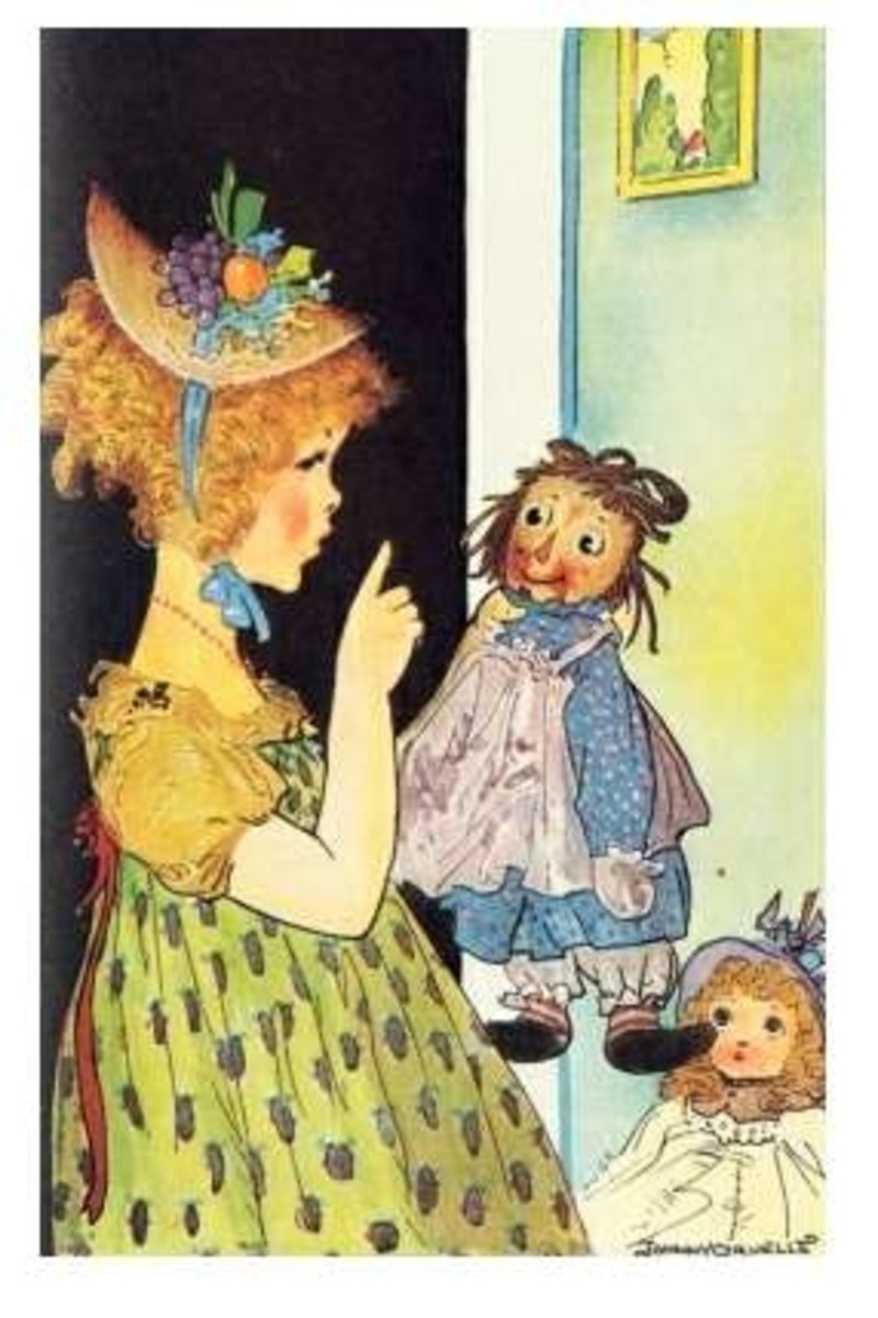 The girl and the Raggedy Ann