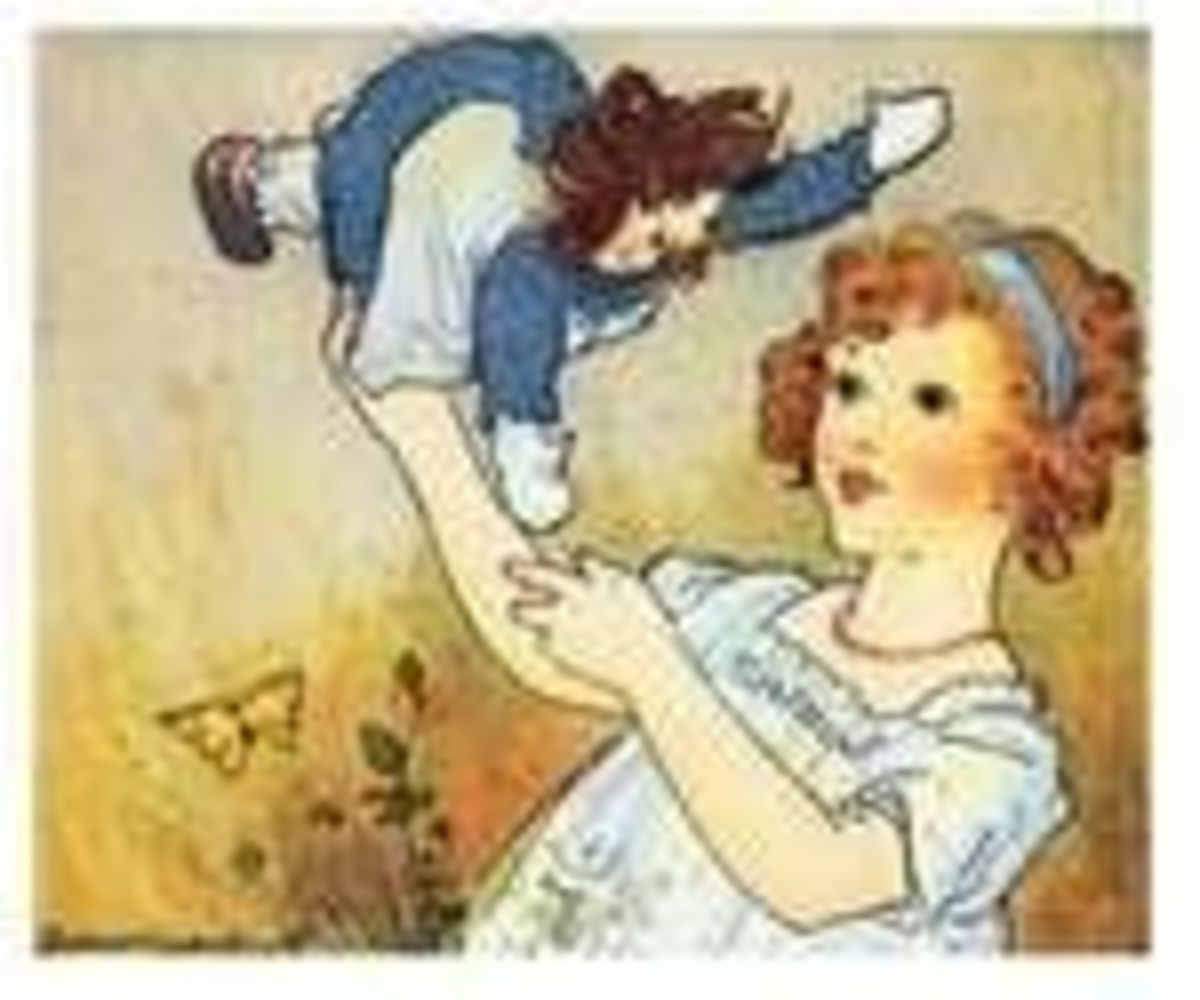 Picture of Marcella and Raggedy Ann