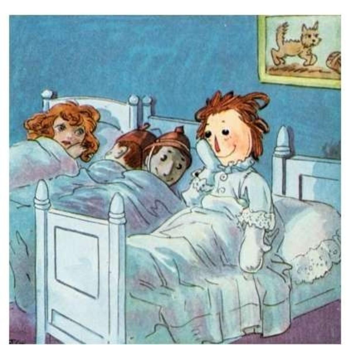 Good night, Raggedy Anne!