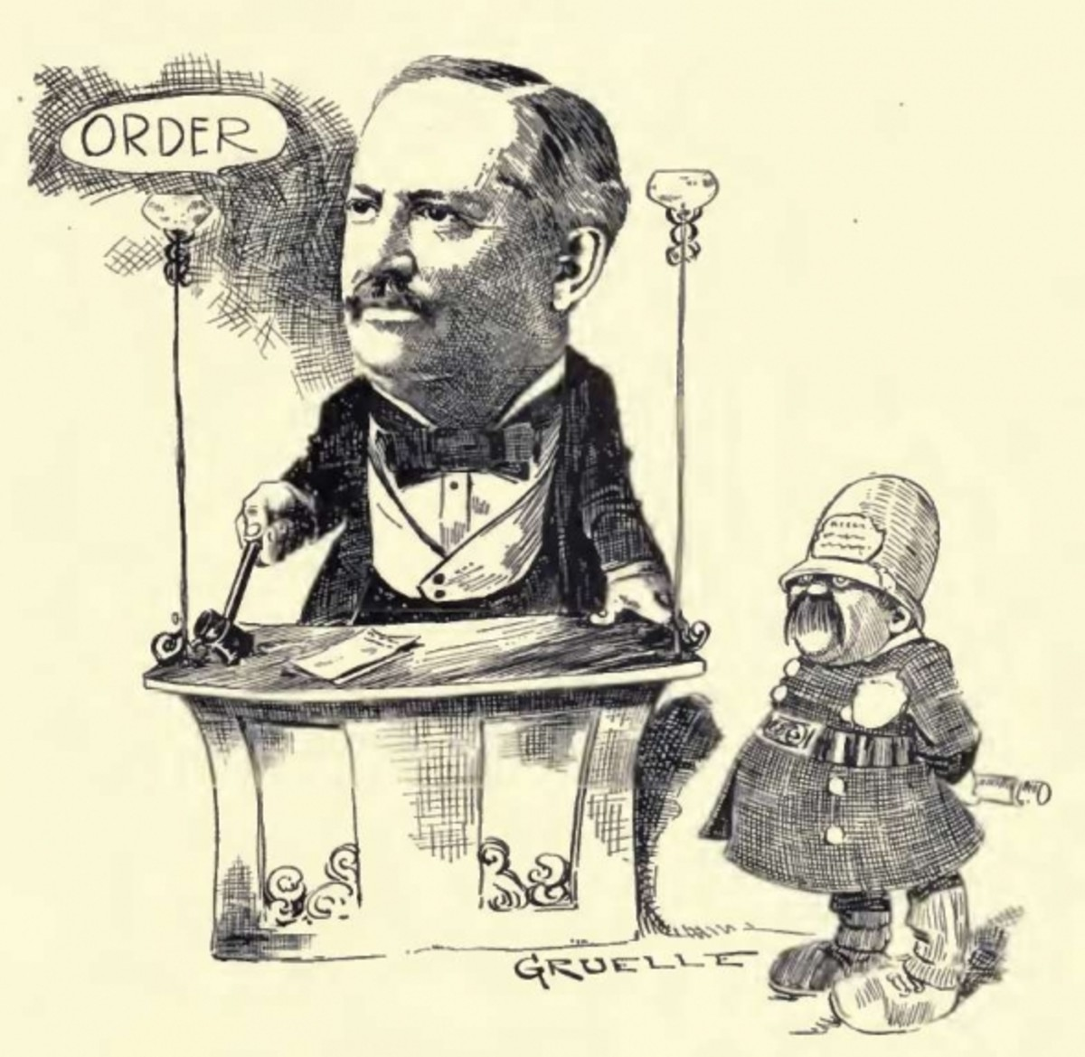 Johnny B. Gruelle caricature
