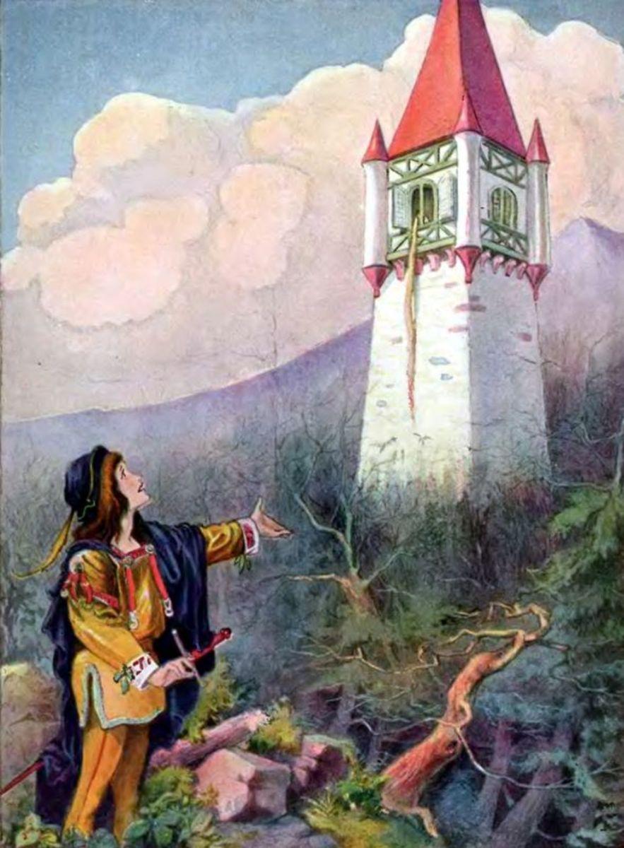 Rapunzel, illustration by Johnny Gruelle