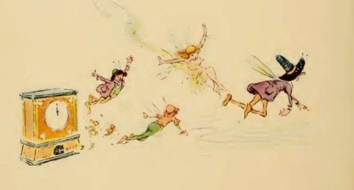 Gruelle's Illustration from The Bam Bam Clock