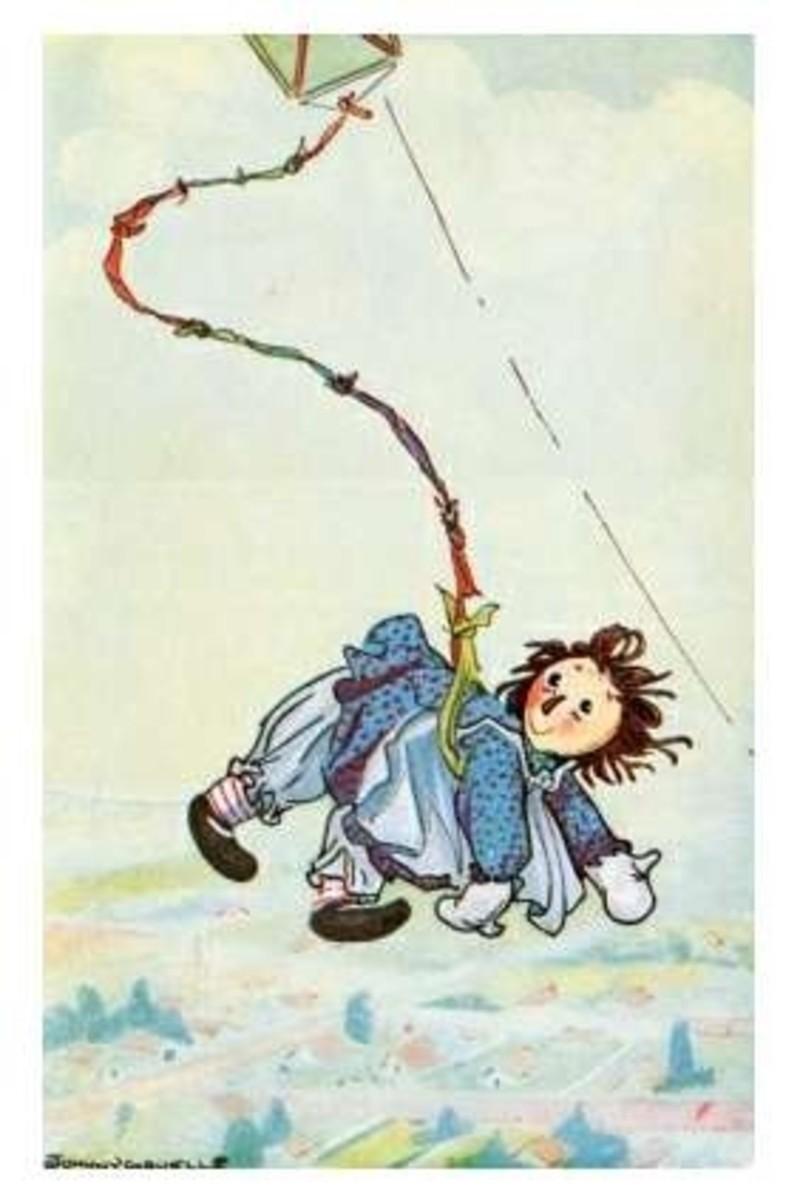 Raggedy Ann is adventurous!
