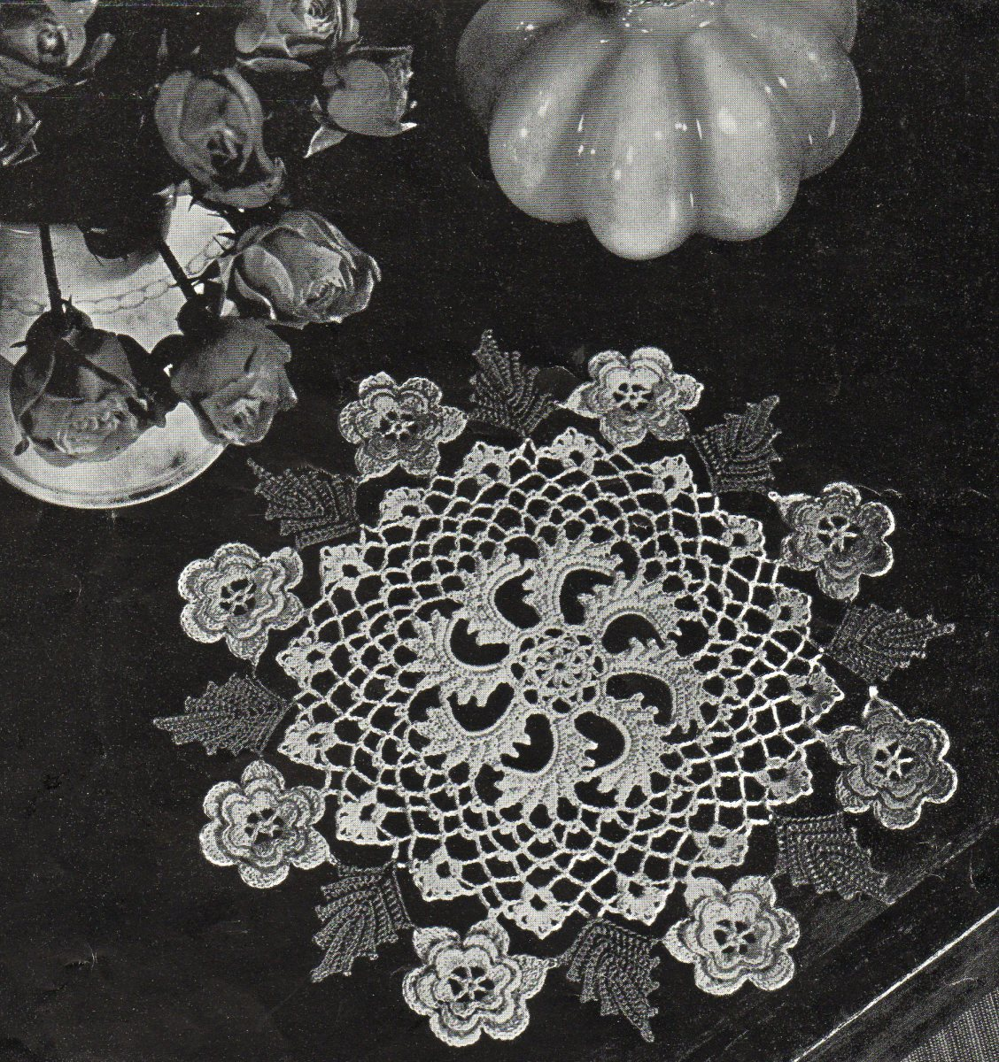 Irish Rose Doily  an Antique Pattern