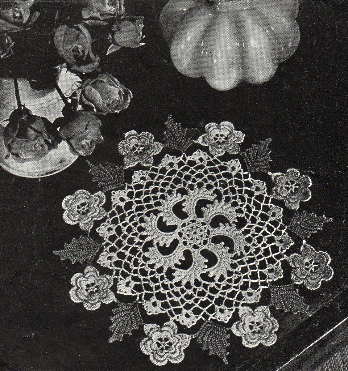 Irish Rose Doily  an Antique Pattern