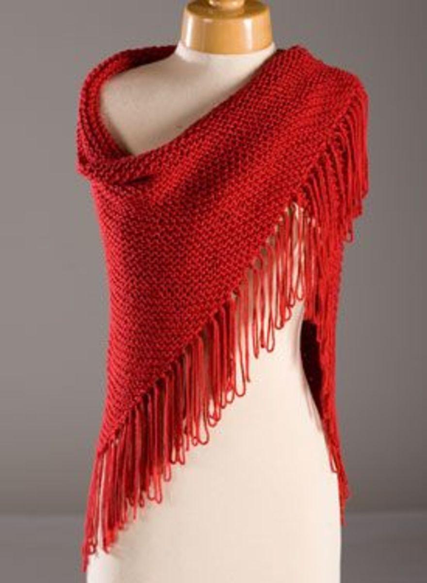 Red Hat Lady Shawl Pattern