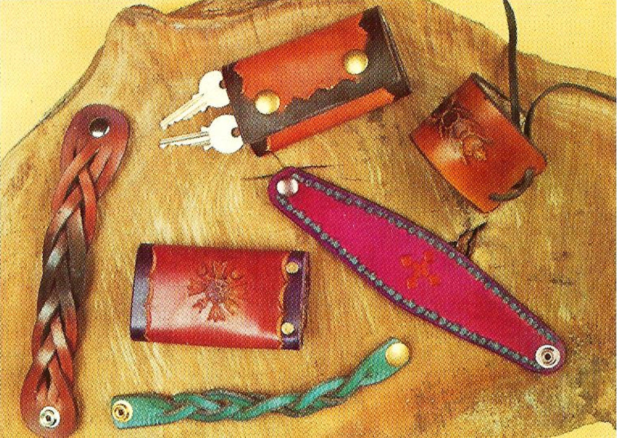 How to Make Leather Wristbands and Keyrings