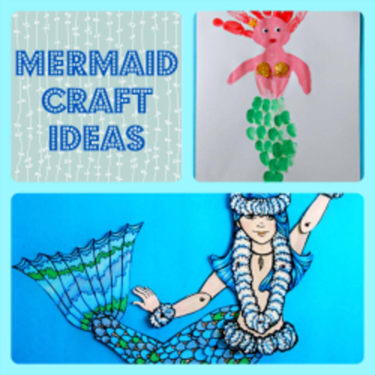 Fun mermaid crafts for kids and adults hubpages for Mermaid arts and crafts