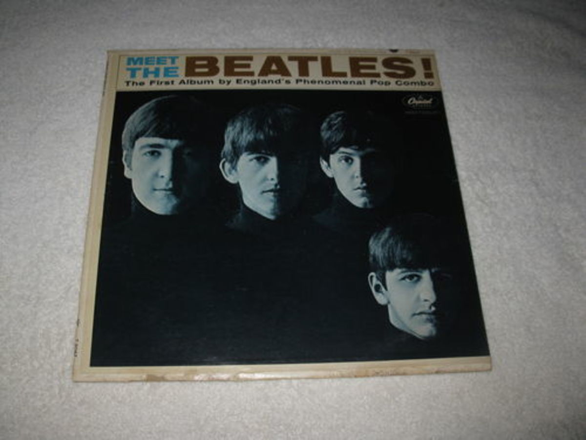 how much is a meet the beatles record worth