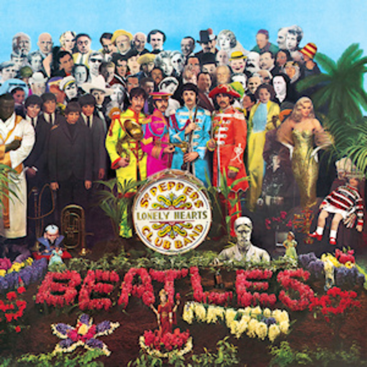 Sgt. Pepper's Lonely Hearts Club Band. The most famous cover of any album ever in history.