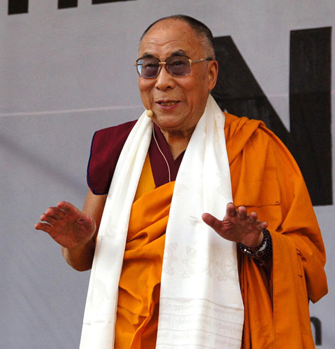 The 14th Dalai Lama is about to hold a speech in Vienna, Austria.