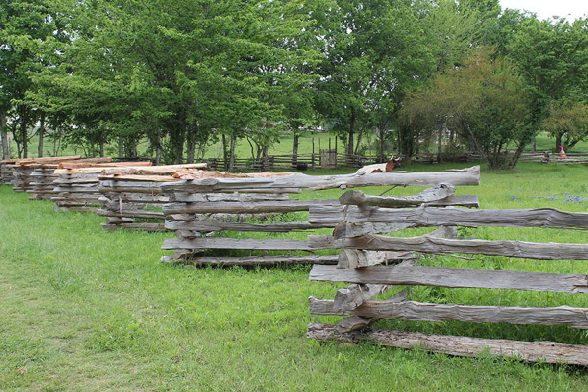 Split rail fence.